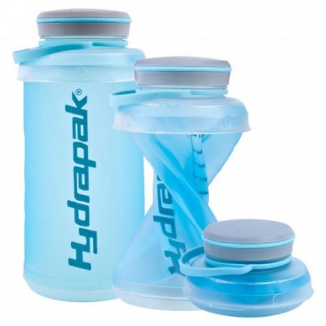 Hydrapak Stash 1L botella plegable - azul