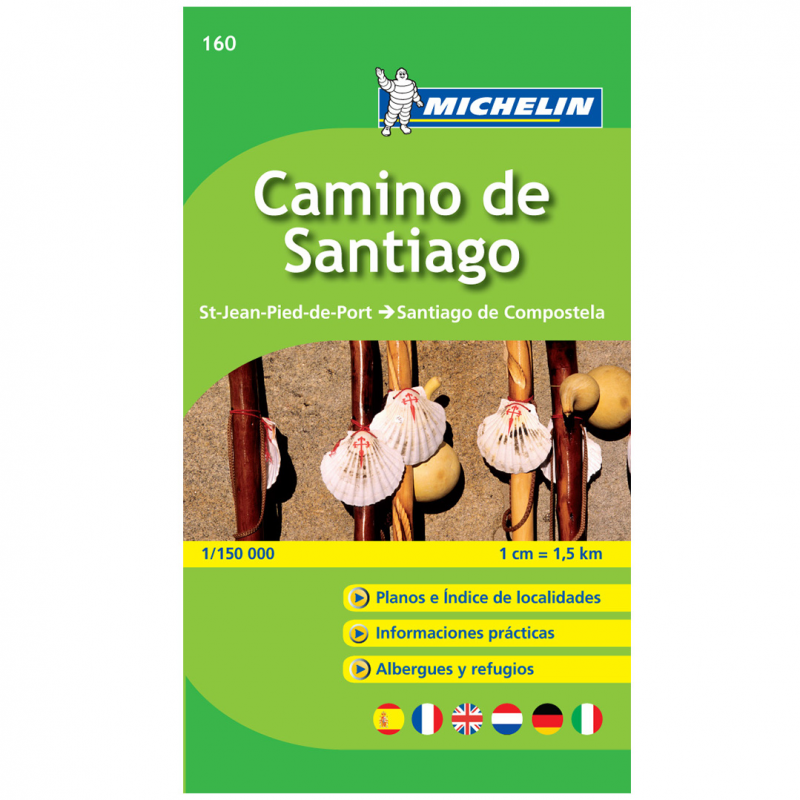 Michelin guide - Map of Camino de Santiago