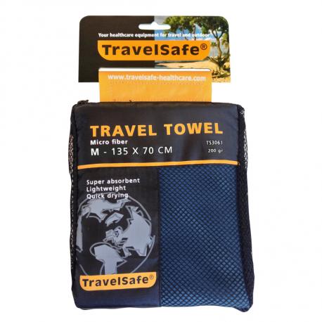 Travelsafe Microfiber Towel 135x70cm blue