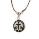 Cross of Apostol Santiago rounded necklace