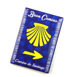 Silicone Magnet Camino Shell, Yellow Arrow, Buen Camino