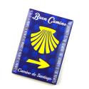 Silicone Magnet Camino Shell, Yellow Arrow, Buen Camino