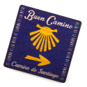 Painted wooden Magnet, Buen Camino