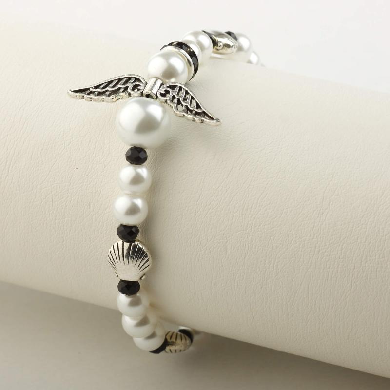Camino Angel bracelet, white/black