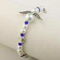 Camino Angel bracelet, white/blue