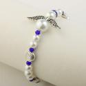 Camino Angel bracelet, white/blue