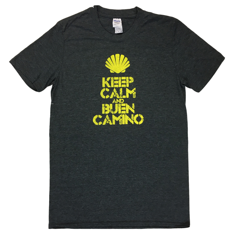 Keep Calm mens T-shirt - dark grey XL