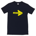 Yellow Arrow mens T-shirt - navy M