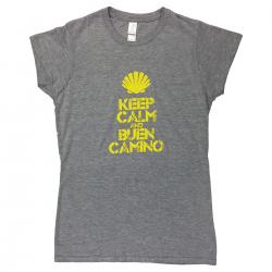 Keep Calm womens T-shirt - light grey M