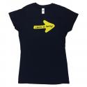 Yellow Arrow womens T-shirt navy L