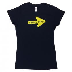 Yellow Arrow womens T-shirt navy M