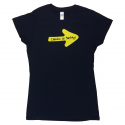 Yellow Arrow womens T-shirt navy M