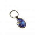 Metal keyring Estrella blue oval