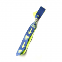 Textil bracelet yellow arrow and Camino-shell