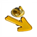 Metal pin - Yellow arrow