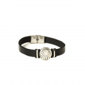 Leather bracelet men with Camino-shell