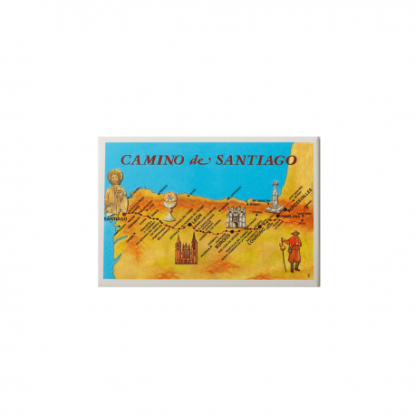 Magnet The Map of Camino de Santiago