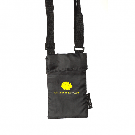 Black travel organizer with Camino shell