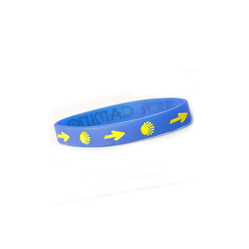 Blue silicone bracelet - Buen Camino