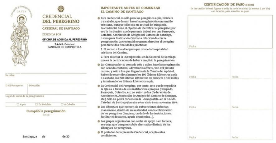 Credencial / Pilgrim Passport