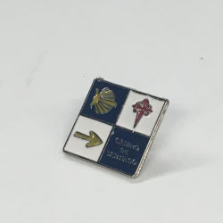 Metal pin - Camino signs square