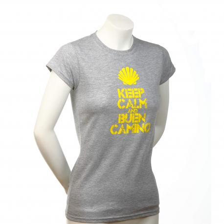 Keep Calm womens T-shirt - light grey L